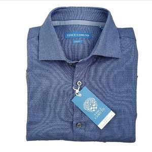 NWT Vince Camuto Blue Button Down Shirt